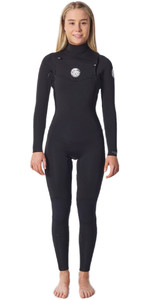 2020 Rip Curl Womens Dawn Patrol Performance 3/2mm Chest Zip Wetsuit WSMYDW - Black