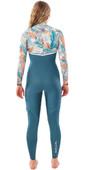2020 Rip Curl Womens E-Bomb 4/3mm Zip Free Wetsuit WSM9BG - Green