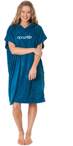 2020 Rip Curl Womens Essentials Hooded Change Robe Poncho GTWAQ1 - Jade