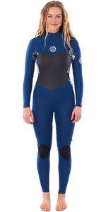 2021 Rip Curl Womens Flashbomb 5/3mm Chest Zip Wetsuit WSTYGS - Navy