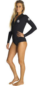 2019 Rip Curl Womens G-Bomb 1mm Long Sleeve Hi Cut Shorty Wetsuit BLACK WSP6EW