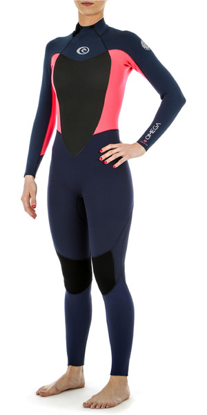 2018 Rip Curl Womens Omega 5/3mm Back Zip Wetsuit Neon Pink WSM4MW