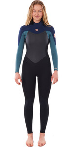 2021 Rip Curl Womens Omega 3/2mm Back Zip Wetsuit WSM9LW - Green