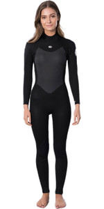 2021 Rip Curl Womens Omega 3/2mm Back Zip Wetsuit WSM9LW - Black