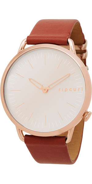 2018 Rip Curl Womens Super Slim Leather Watch Rose Gold A3008G