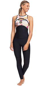 2020 Roxy Womens 1.5mm Pop Surf Long Jane Wetsuit ERJW703001 - Black / Terracotta
