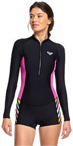 2019 Roxy Womens 1.5mm Pop Surf Long Sleeve Shorty Wetsuit Black ERJW403019