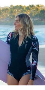 2020 Roxy Womens 1mm Pop Surf Long Sleeve Cheeky Spring Shorty Wetsuit ERJW403021 - Black