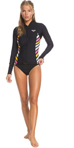 2019 Roxy Womens POP Surf 1mm Neoprene Jacket Black ERJW803018