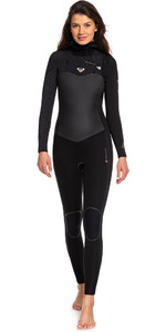 2019 Roxy Womens Performance 5/4/3mm Hooded Chest Zip Wetsuit Black ERJW203003