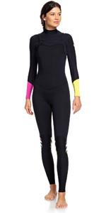 2019 Roxy Womens 3/2mm Pop Surf Chest Zip Wetsuit Black ERJW103047