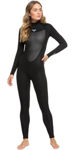 2021 Roxy Womens Prologue 5/4/3mm Back Zip Wetsuit ERJW103073 - Black