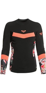 2021 Roxy Womens Syncro 1mm Long Sleeve Jacket ERJW803021 - Black / Bright Coral