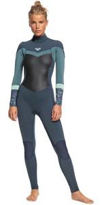 2020 Roxy Womens Syncro 4/3mm Back Zip Wetsuit ERJW103054 - Deep Slate / Blue