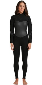 2020 Roxy Womens Syncro 5/4/3mm Back Zip Wetsuit ERJW103056 - Black / Jet Black