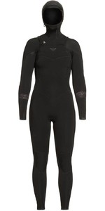 2020 Roxy Womens Syncro 5/4/3mm Hooded Chest Zip Wetsuit ERJW203006 - Black / Jet Black