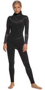 2020 Roxy Womens Syncro Plus 5/4/3mm Hooded Chest Zip Wetsuit ERJW203007 - Black