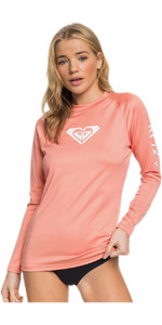 2020 Roxy Womens Whole Hearted Long Sleeve Rash Vest ERJWR03408 - Terracotta