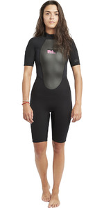 2020 Billabong Womens Launch 2mm Back Zip Shorty Wetsuit Black S42G03