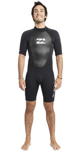 2020 Billabong Mens Intruder 2mm Back Zip Shorty Wetsuit Black S42M21
