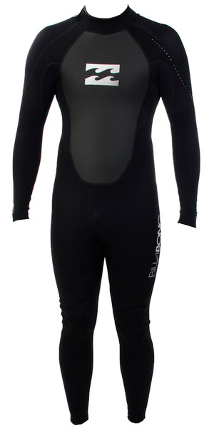 2018 Billabong Junior Intruder 3/2mm Flatlock Wetsuit BLACK S43B04