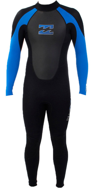 2018 Billabong Junior Intruder 3/2mm Flatlock Wetsuit BLACK / BLUE S43B04