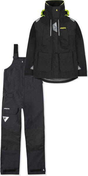 2019 Musto Womens BR2 Offshore Jacket SWJK014 & Trouser SWTR010 Combi Set Black