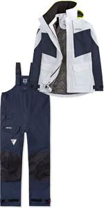 2019 Musto Womens BR2 Coastal Jacket SWJK015 & Trouser SWTR010 Combi Set White / Navy