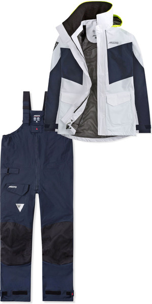 2019 Musto Womens BR2 Coastal Jacket SWJK015 & Trouser SWTR010 Combi Set White / Navy