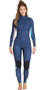 2019 Billabong Womens Salty Dayz 5/4mm Chest Zip Wetsuit Blue Swell L45G01