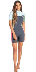 2019 Billabong Womens Synergy 2mm Shorty Wetsuit Seafoam N42G04