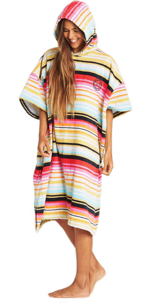 2019 Billabong Junior Girls Salty Hooded Changing Robe / Poncho Serape N4BR20