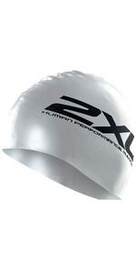 2XU Silicone SWIM Cap Hat in SILVER US1355