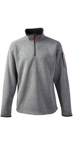 Gill Mens Knit Fleece in Silver 1491