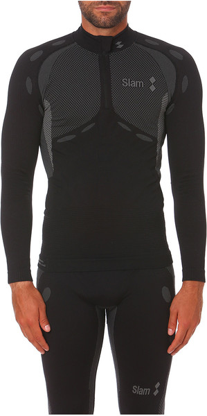 2019 Slam Stockton Half Zip Base Layer Top Black S119016T00