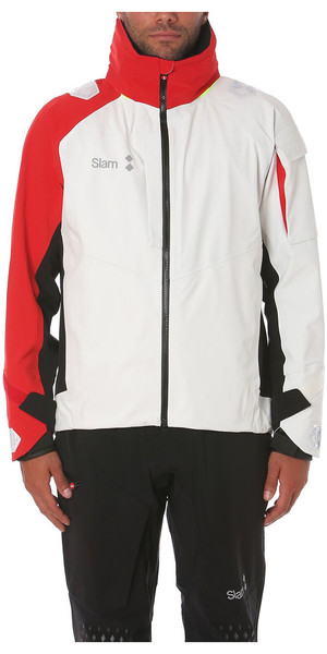 2018 Slam WIN-D Racing Jacket + Salopette Combi Set White / Red / Black