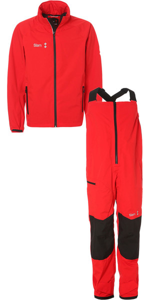 2018 Slam WIN-D Sailing Jacket + Trouser Combi Set Red