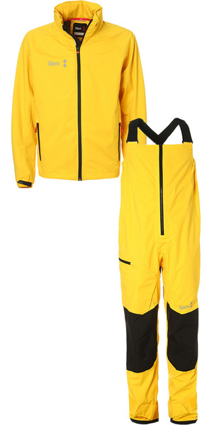 2018 Slam WIN-D Sailing Jacket + Trouser Combi Set Yellow