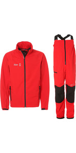 2019 Slam WIN-D Sailing Jacket & Trouser Combi Set - Red