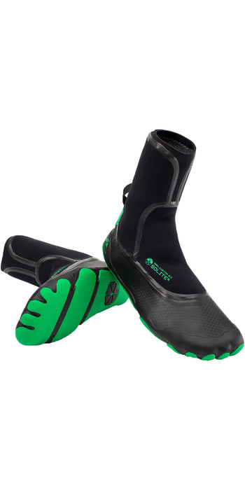 2021 Solite Custom 2.0 3mm Wetsuit Boots 21004 - Green / Black