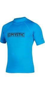 2021 Mystic Star Junior S / S Rash Vest 35401.18012 - Blue