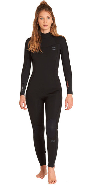 2018 Billabong Womens Furnace Synergy 5/4mm Back Zip Wetsuit Black L45G04