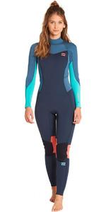 Billabong Womens Furnace Synergy 4/3mm Back Zip Wetsuit Slate L44G04