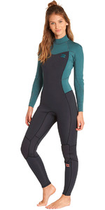 Billabong Womens Furnace Synergy 4/3mm Back Zip Wetsuit Sugar Pine L44G04