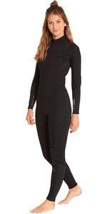 Billabong Womens Furnace Synergy 3/2mm Chest Zip Wetsuit Black L43G03
