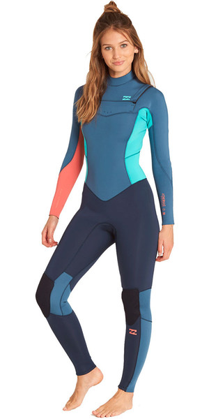 2019 Billabong Womens Furnace Synergy 5/4mm Chest Zip Wetsuit Slate L45G03