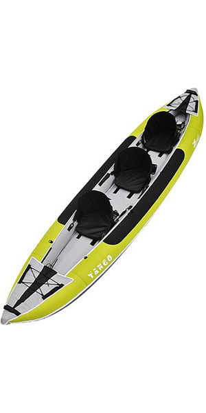 2018 Z-Pro Tango 3 Man Inflatable Kayak TA300 GREEN - Kayak Only