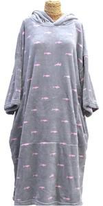 2021 TLS Kids Hooded Change Robe Poncho 120cm - Shark Dot