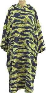 2021 TLS Hooded Change Robe Poncho - Tiger Camo