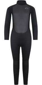 2021 Typhoon Junior Storm5 5/4mm Back Zip Wetsuit 251020 - Black
